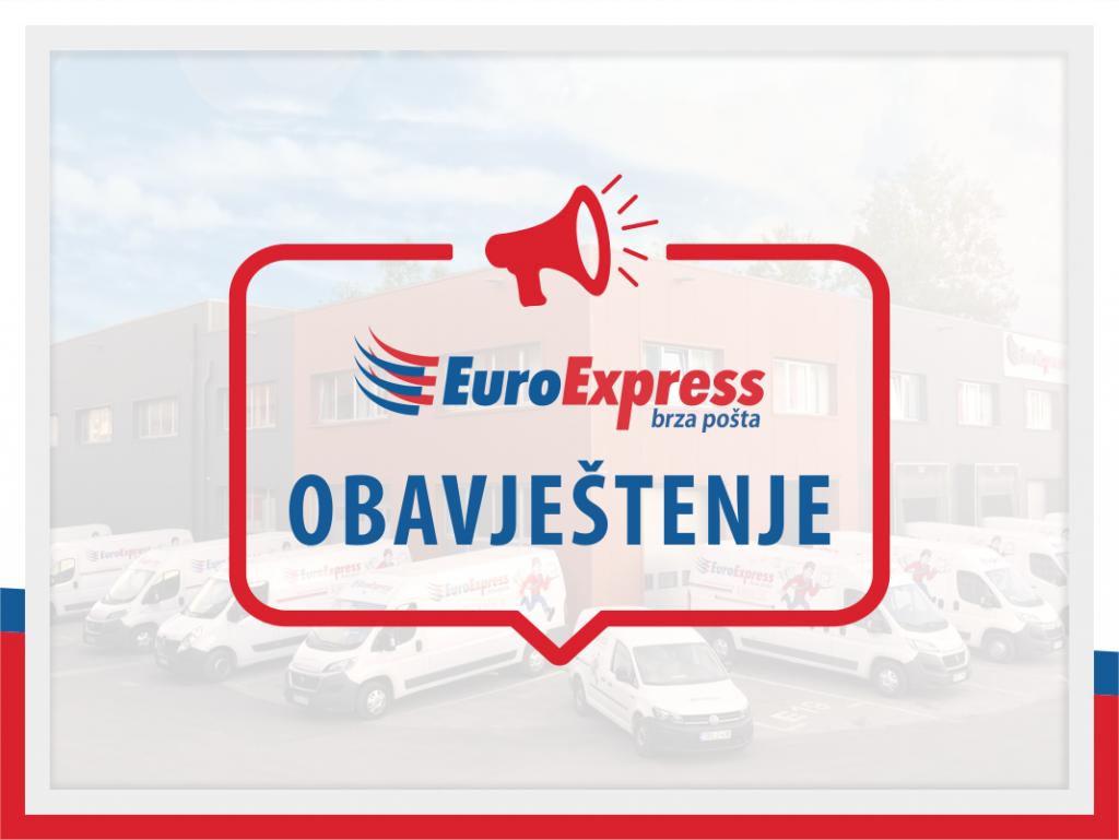 Obavještenje o izmjeni usluge EuroExpress
